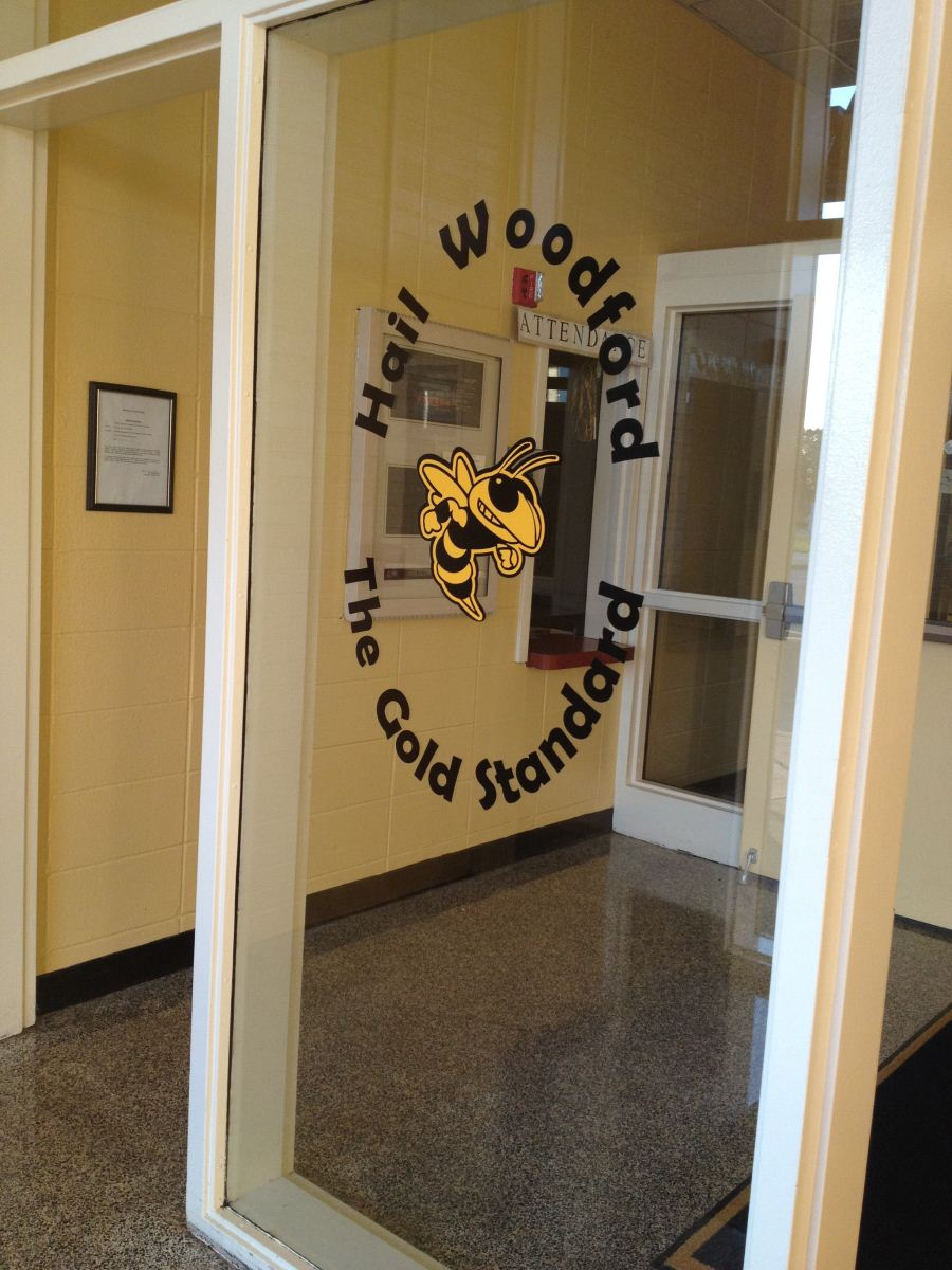 entrance to Woodford County High School's office
