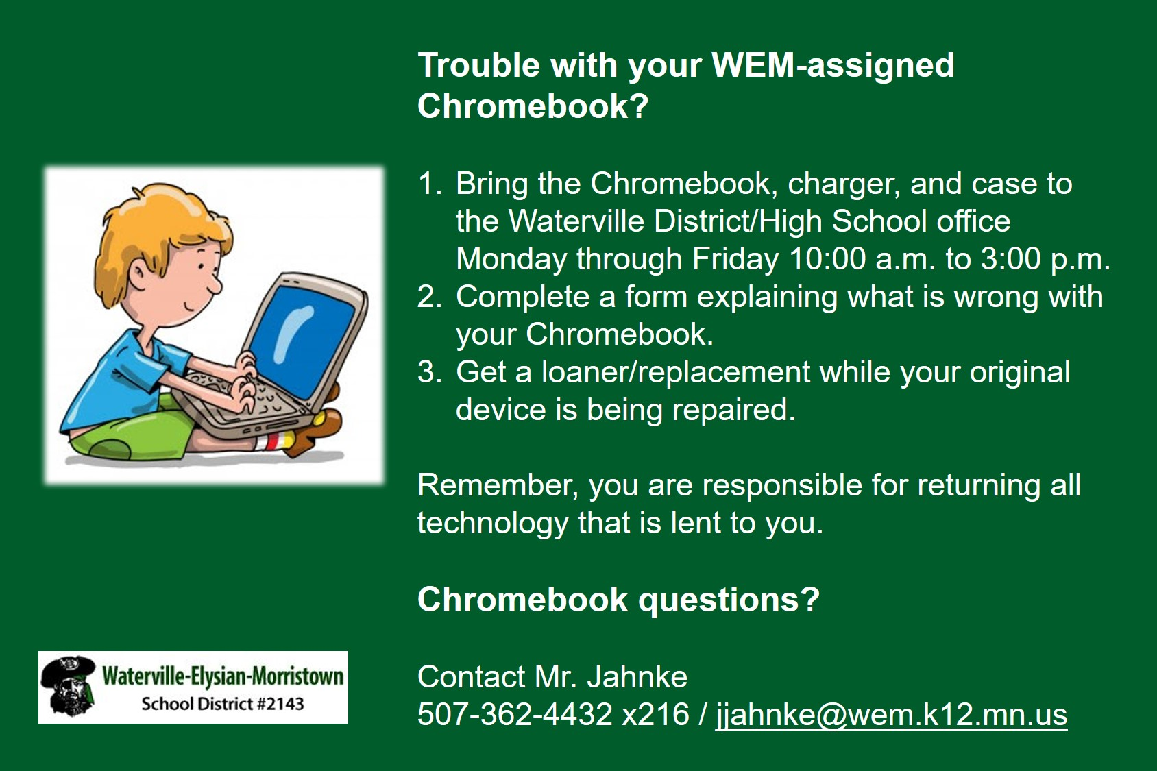 Trouble with Your Chromebook?