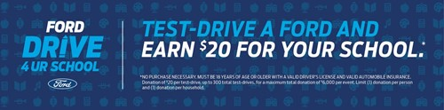 GILLIE HYDE FORD TO HOLD DRIVE 4 UR SCHOOL EVENT