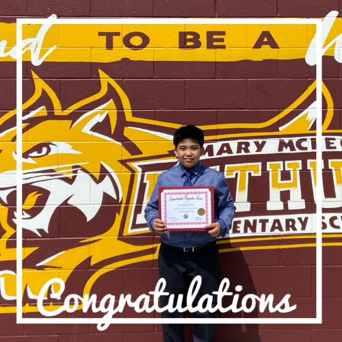 Congratulations, Dominic!