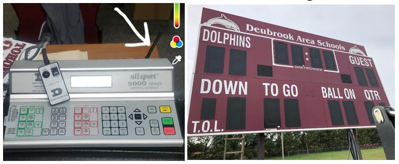 Dolphin Football Scoreboard - Item 1