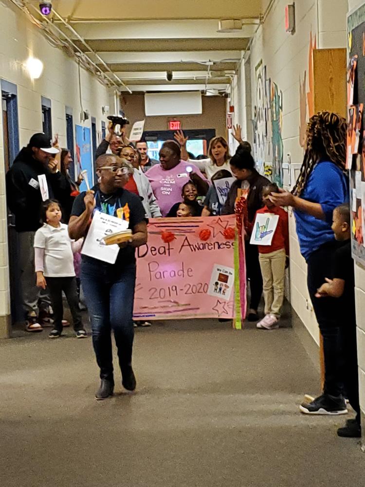 Deaf Awareness Parade 2019 at Nathan Hale School